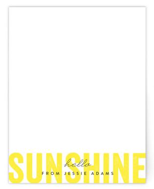 Hello Sunshine Personalized Stationery