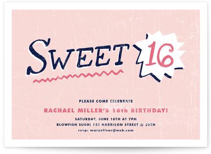 Sweet Sixteen Sweet Sixteen Party Invitations