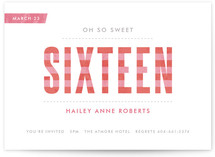 Oh So Sweet Sweet Sixteen Party Invitations