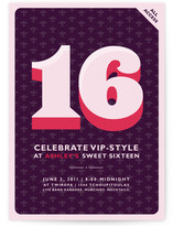All Access Sweet Sixteen Party Invitations