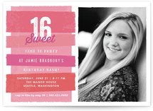 Time To Party Sweet Sixteen Party Invitations