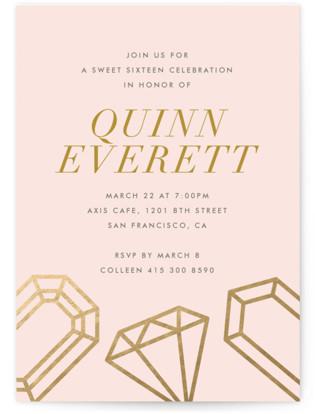 Sixteen Karats Sweet Sixteen Party Invitations