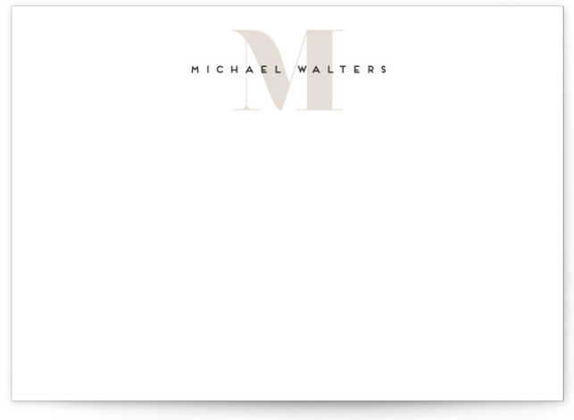 Strong initial 5x7 Personalized Stationery