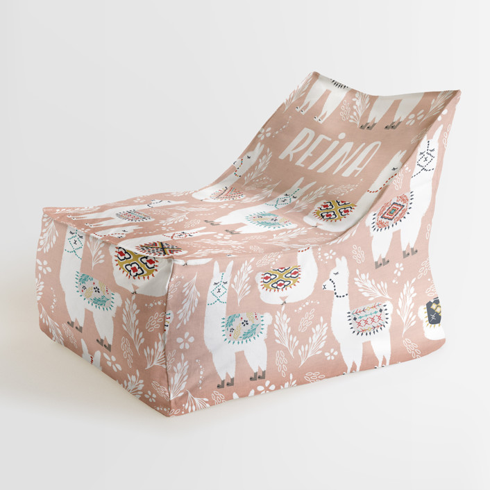LaLaLlama Personalizable Triangle Chairs