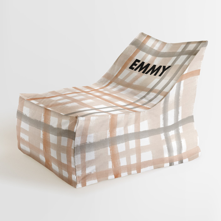 Rad Plaid Vertical Birth Announcement Personalizable Triangle Chairs