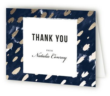 Midnight And Gold Bridal Shower Thank You Cards