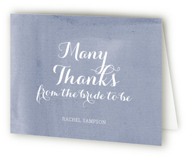 Simply Baby Bridal Shower Thank You Cards