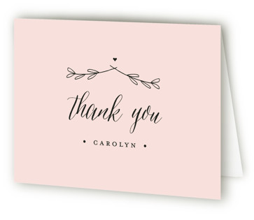 The Meadow Bridal Shower Thank You Cards