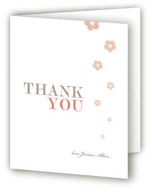 Blossom Shower Bridal Shower Thank You Cards