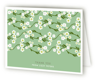 Shower Blossoms Bridal Shower Thank You Cards