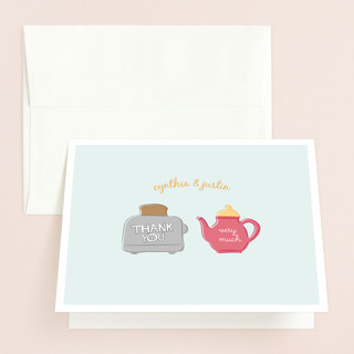 Toast the Happy Couple Bridal Shower Thank You Cards