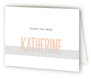 Revealing Bridal Shower Thank You Cards