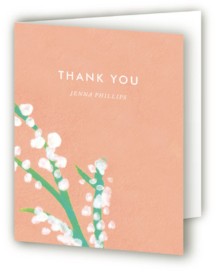 Matthiola Bridal Shower Thank You Cards