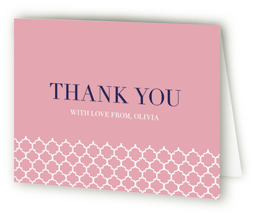 Preppy Bridal Shower Thank You Cards