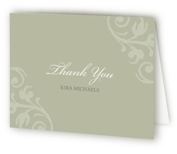 chocolat et crme Bridal Shower Thank You Cards