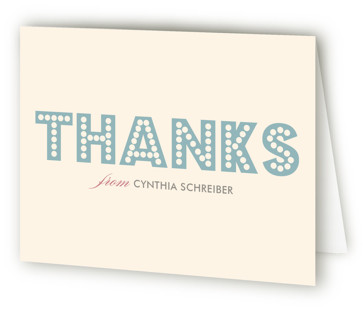 float + here comes Bridal Shower Thank You Cards