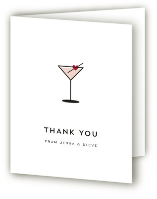 Love Cocktail Bridal Shower Thank You Cards