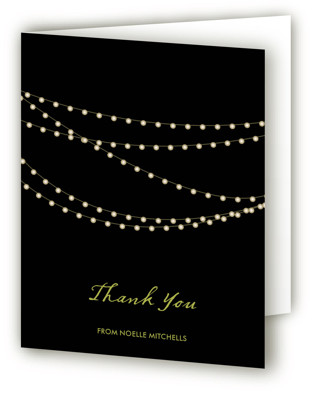 Midnight Vineyard Bridal Shower Thank You Cards