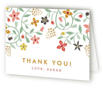 Botanical Affair Bridal Shower Thank You Cards