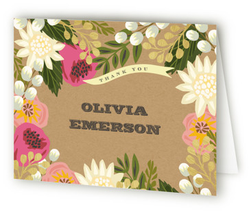 Floral Canopy Bridal Shower Thank You Cards