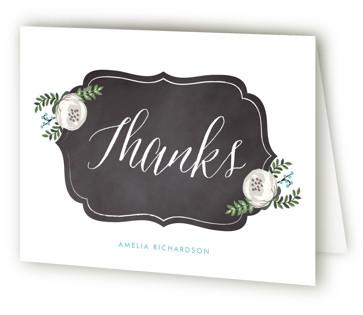 Chalkboard Florals Bridal Shower Thank You Cards