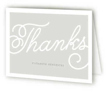Modern Script Bridal Shower Thank You Cards