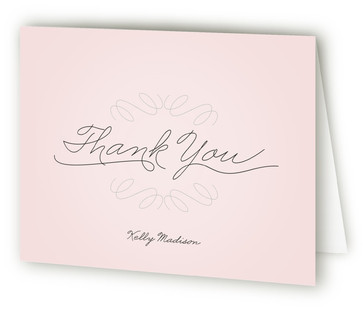 Perfect Penmanship Bridal Shower Thank You Cards