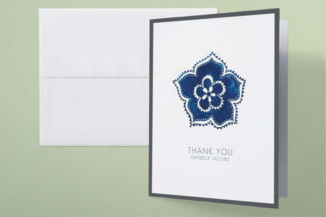 Blue Elegance Bridal Shower Thank You Cards