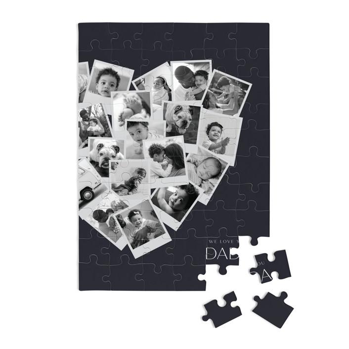 Dada Collage Heart 60 Piece Custom Puzzle