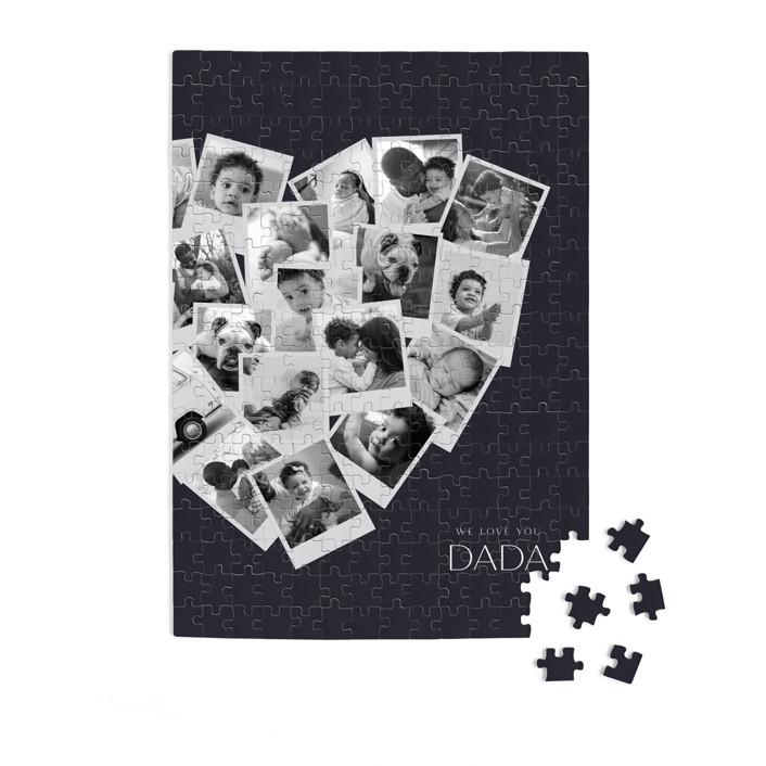 Dada Collage Heart 252 Piece Custom Puzzle