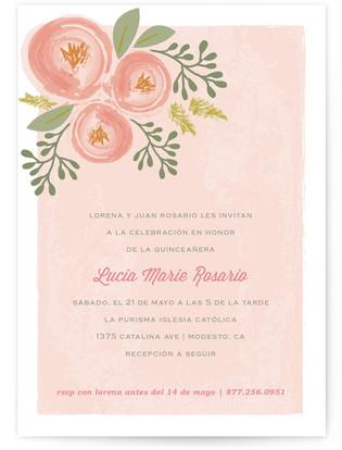 Bonita Blooms Quinceaera Invitations