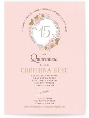 Delicate Quince Quinceaera Invitations