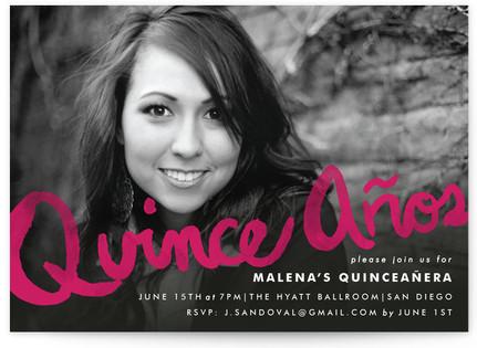 Alegre Quinceaera Invitations