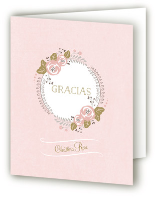 Delicate Quince Quinceaera Thank You Cards