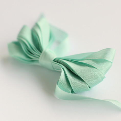 Mint Shimmer Ribbon