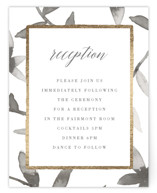Gilded Woodgrain Foil-Pressed Reception Cards