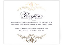 Wedding Waltz Foil-Pressed Reception Cards