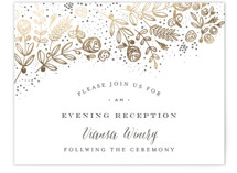 The Wedding Bouquet Foil-Pressed Reception Cards