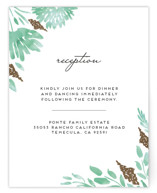 Watercolor Delight Foil-Pressed Reception Cards