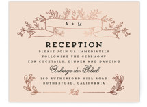 Wedding Bouquet Foil-Pressed Reception Cards