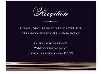 Evening Elegance Foil-Pressed Reception Cards