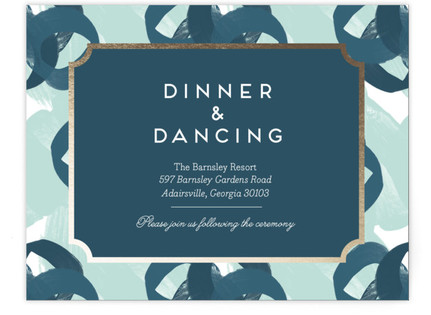 Gallery Label Foil-Pressed Reception Cards