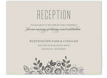White Shadows Foil-Pressed Reception Cards