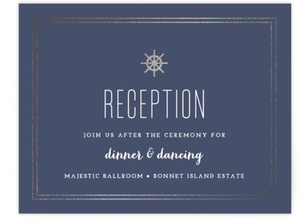 Down by the Sea Foil-Pressed Reception Cards