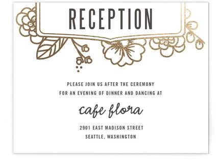 Modern Botanicals Foil-Pressed Reception Cards