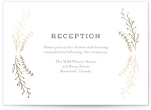 Wanderlust Wreath Foil-Pressed Reception Cards