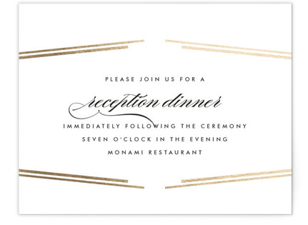 Opera Foil-Pressed Reception Cards
