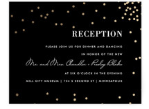 Thrilling Foil-Pressed Reception Cards