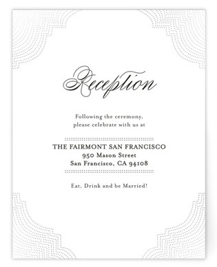 Splendorous Foil-Pressed Reception Cards