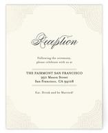 Splendorous Foil-Pressed Reception Cards